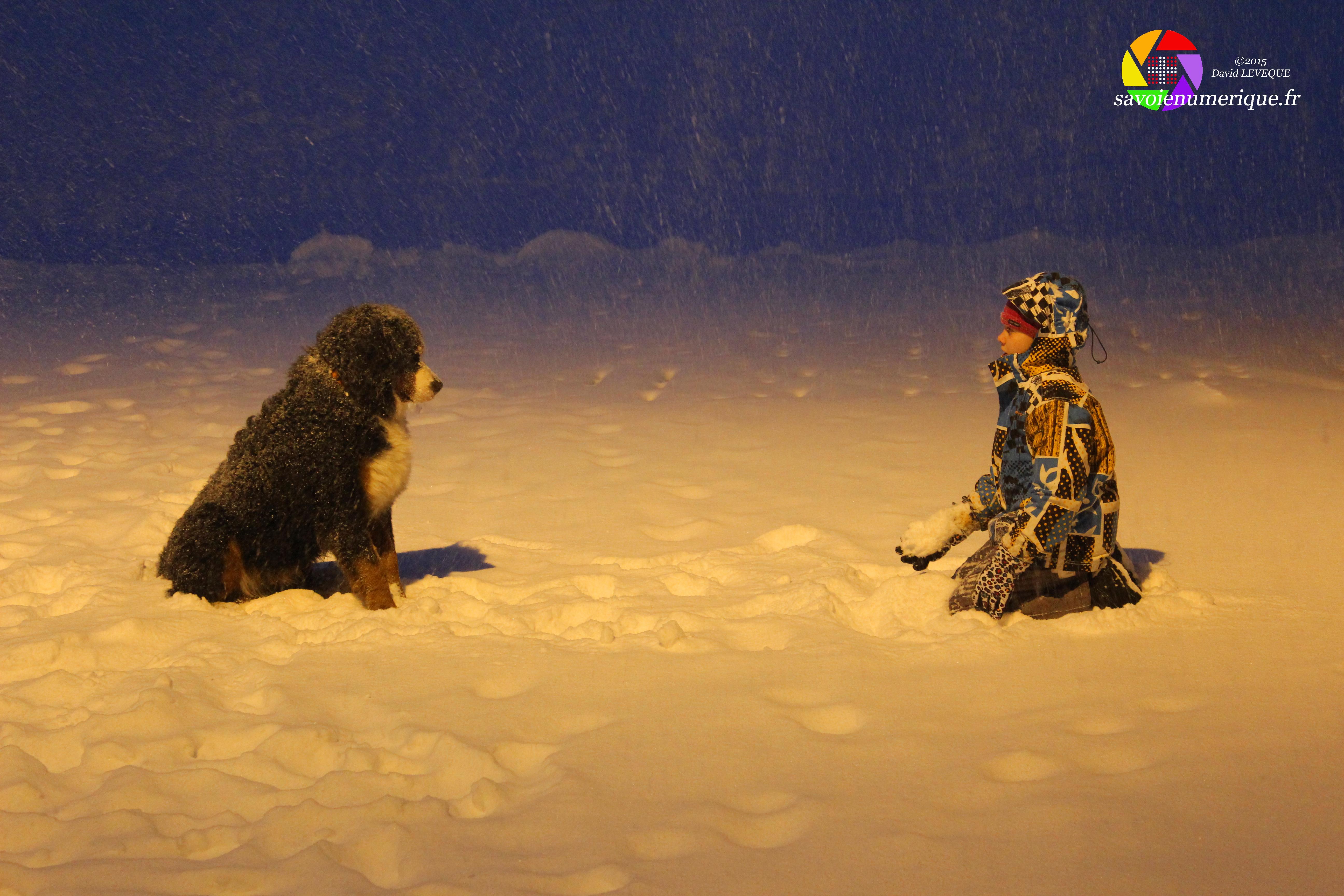 Complicité dans la neige