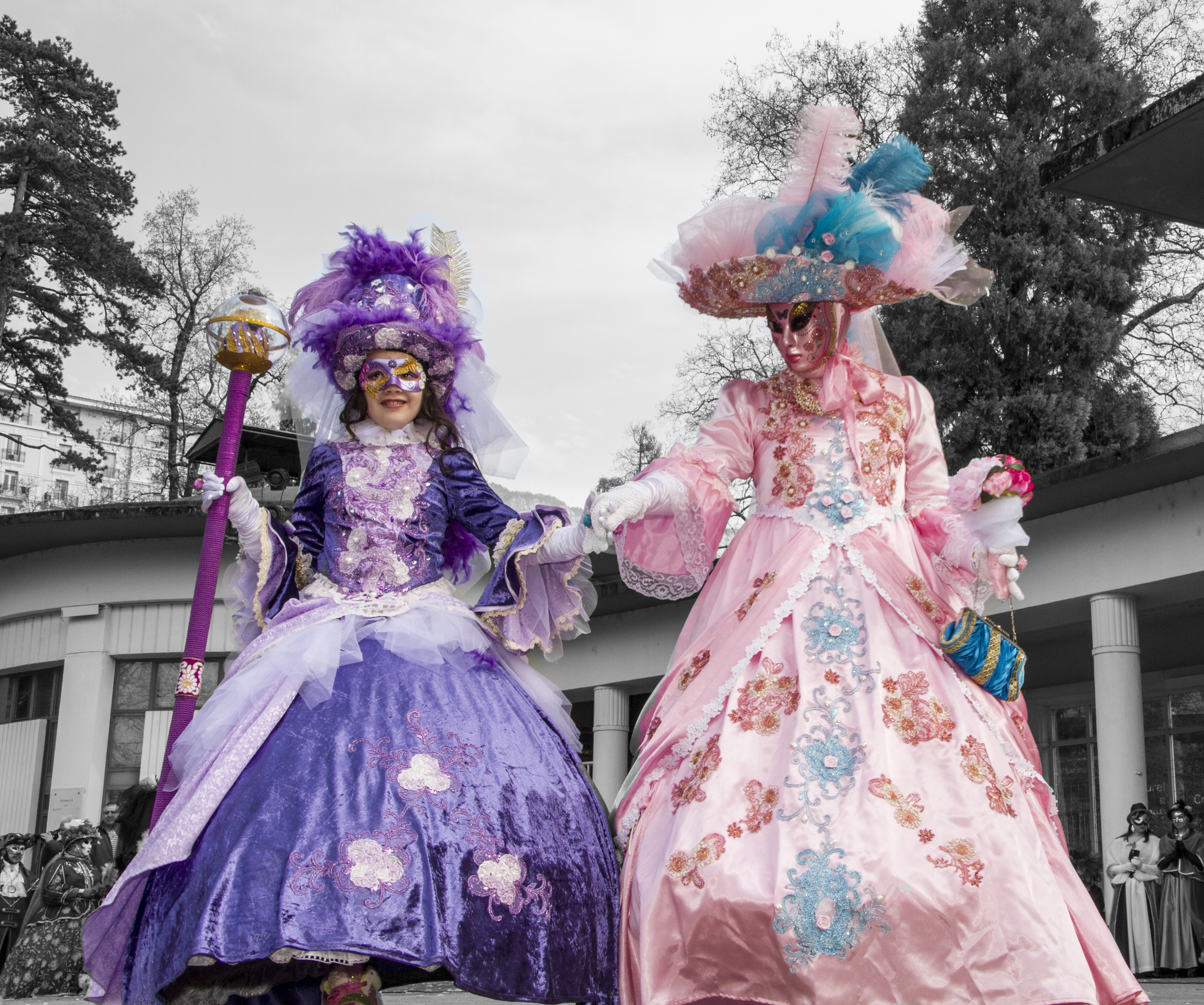 Amandine et Laurence, Carnaval Vénitien d'Aix les Bains (Savoie-France)