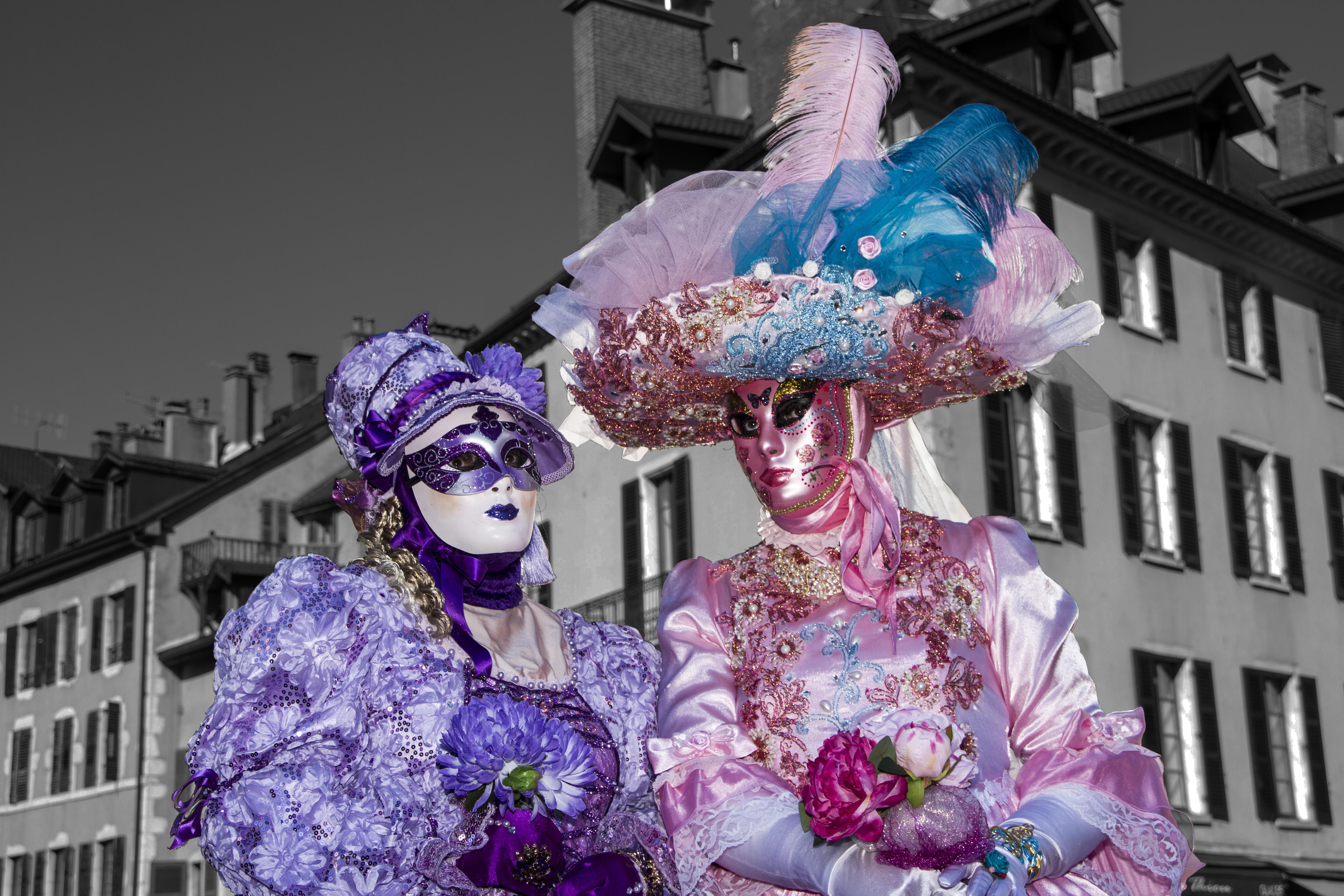 Annie et Laurence, Carnaval Vénitien d'Annecy, (Haute-Savoie, France)